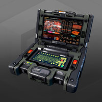 3D model sf military laptop
