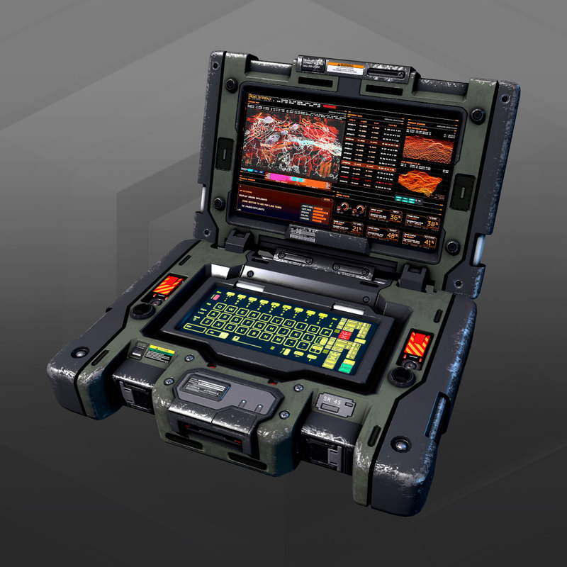 3D model sf military laptop