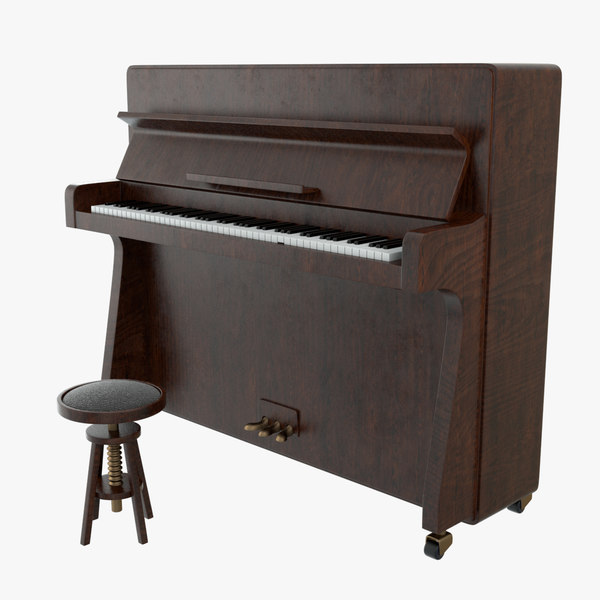 3D generic upright piano model