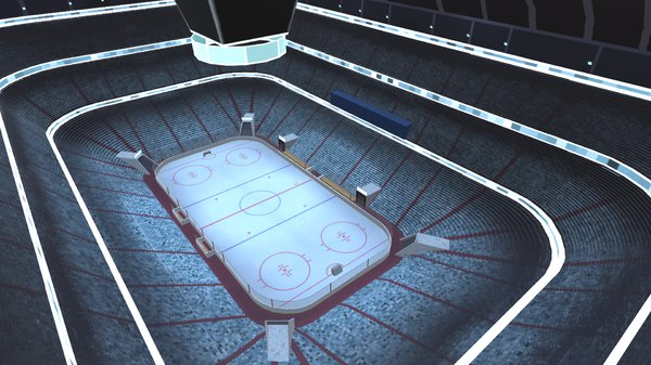 hockey arena stadium 3D model