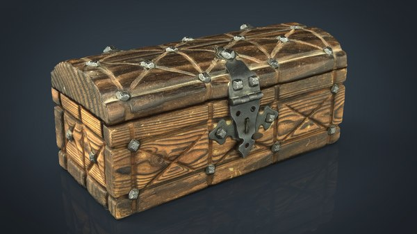 3D medieval chest