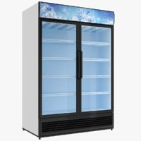 double door fridge 3D model