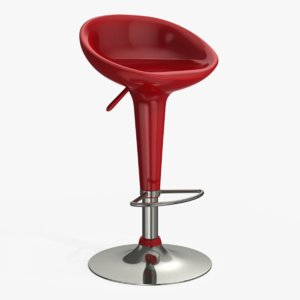 3D model bombo style bar stool
