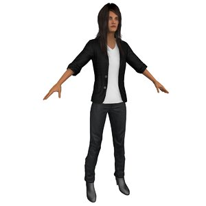 casual woman 3D