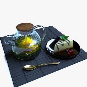 green tea flower 3D model