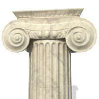 ionic column architectural 3D