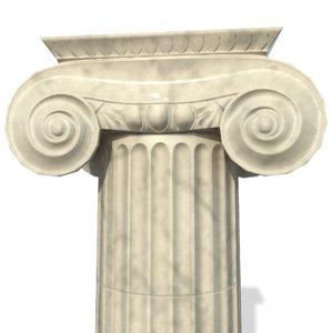 ionic column architectural 3D