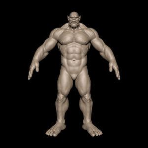 3D orc body model