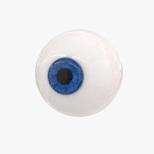 cartoon eye 3D model