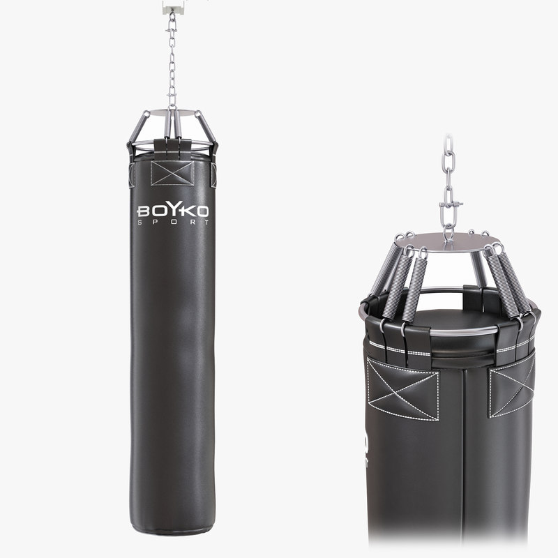 punching bag boxing gloves 3D model
