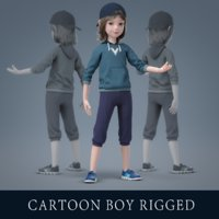 Cartoon Boy Rigged