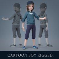 Cartoon Boy Rigged