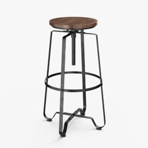 3D adjustable bar stool ar model