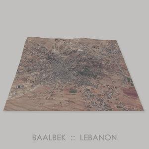 3D baalbek temples megalithic terrain model