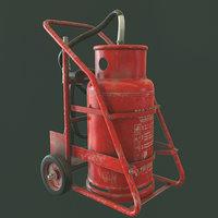 3D trolley extinguisher quixel