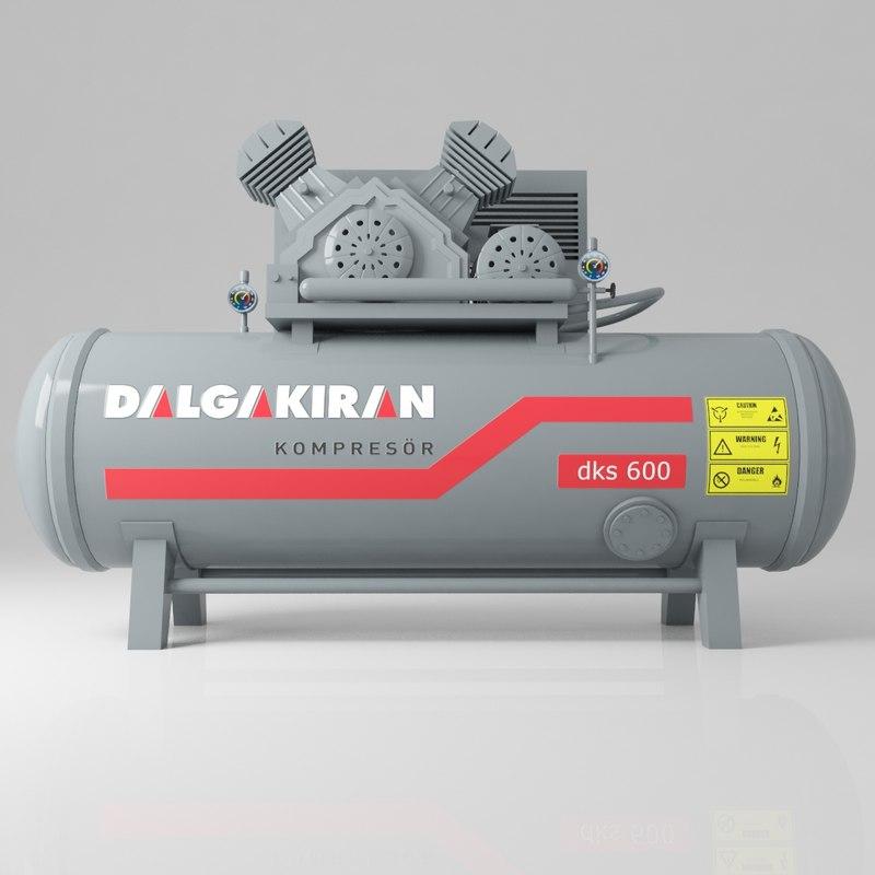 compressor dalgakran 3D model