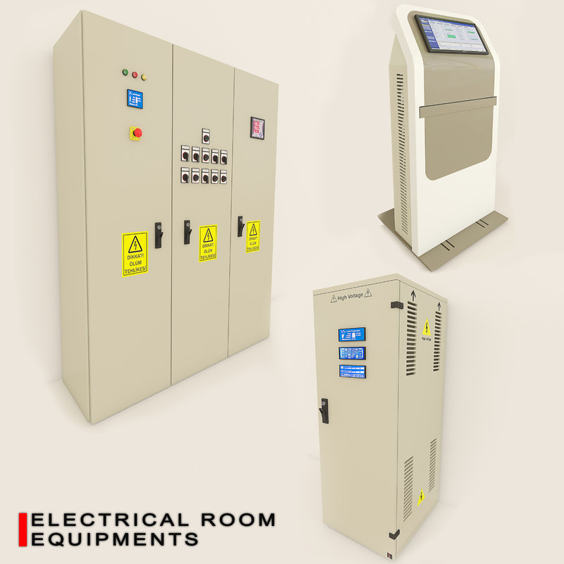 electrical panels 3D model