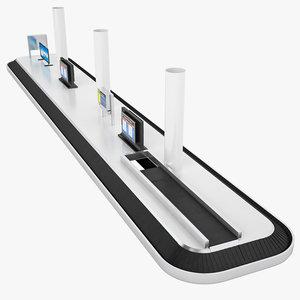 belt conveyor airport model