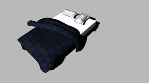 messy bed 3D model