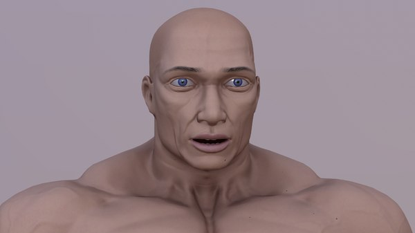 3D male strong model