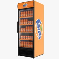 fanta fridge 3D model