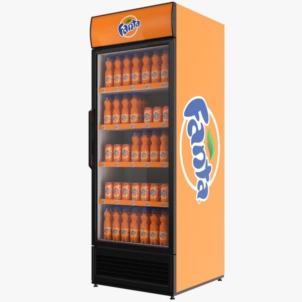 fanta fridge 3D model