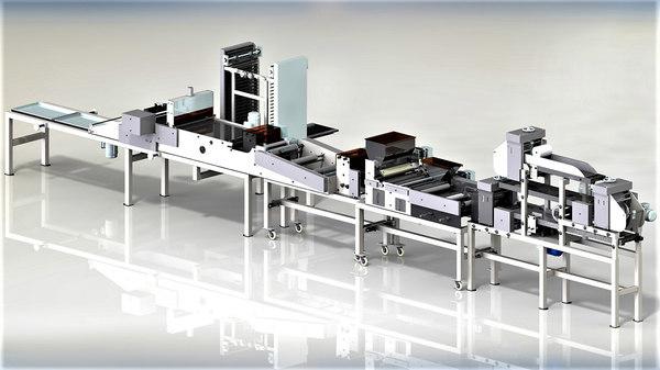 line salted sticks machines 3D model