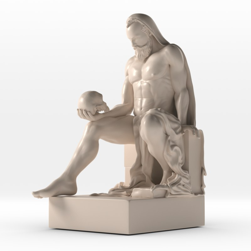 statue st jeronimus 3D model