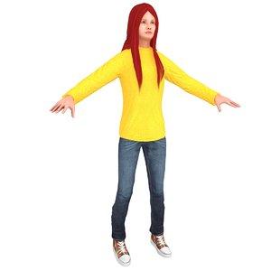 casual woman model