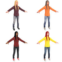 pack casual woman s 3D