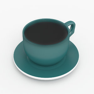 cup coffee 2 3D
