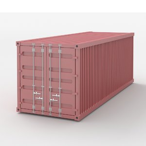 3D shiping container model