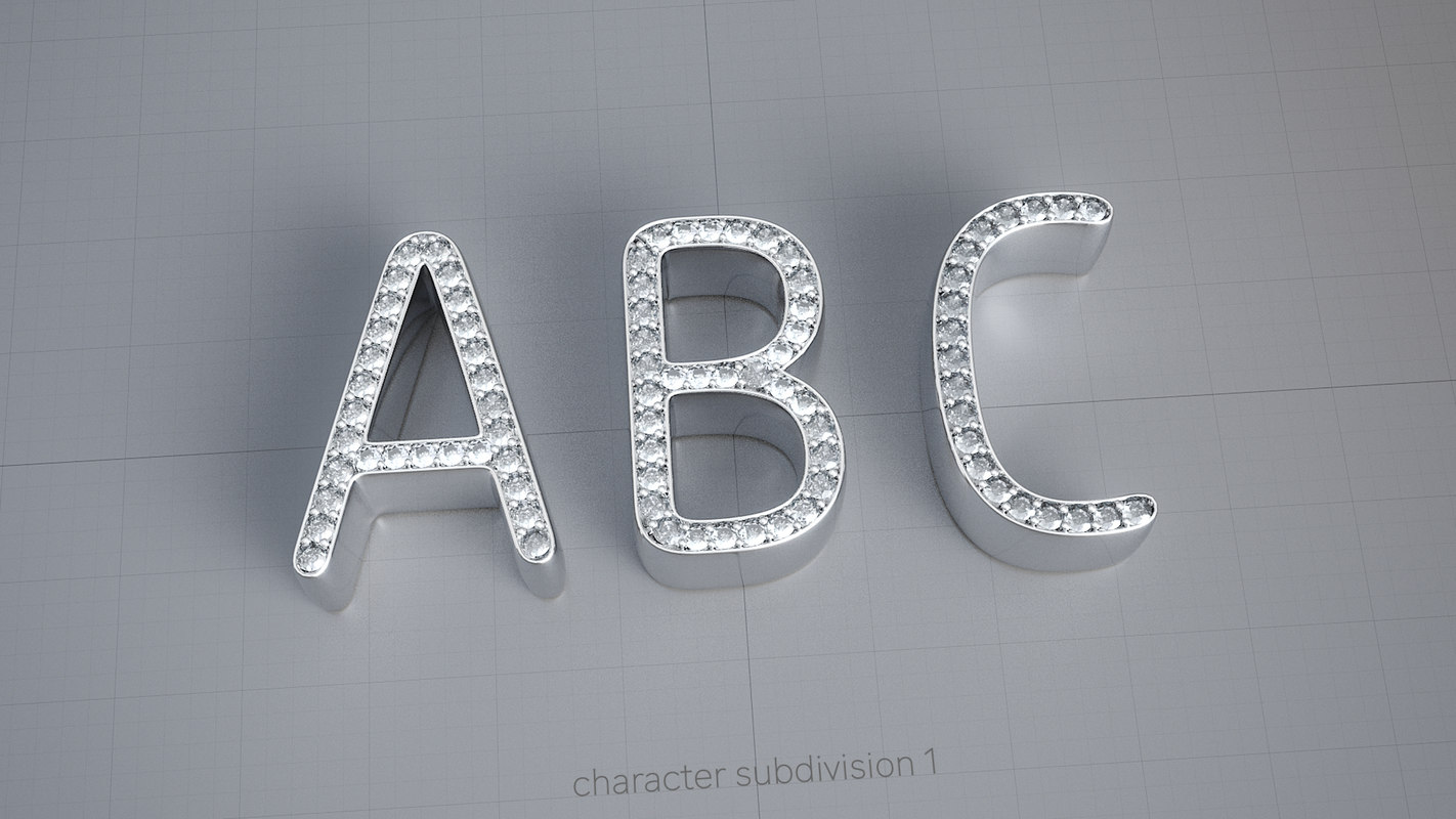 characters diamonds 3D model