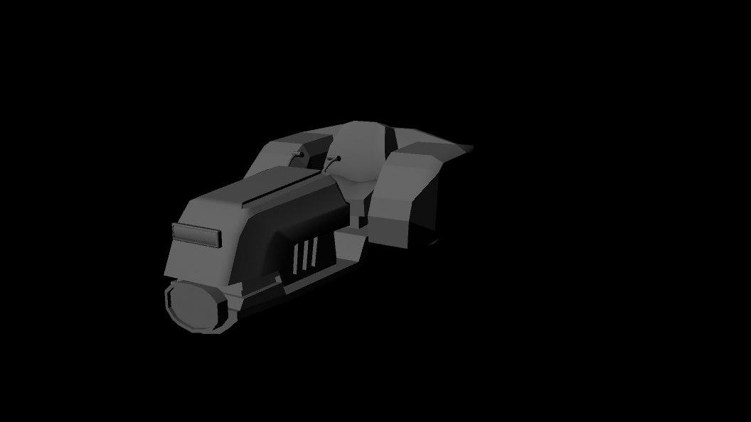 futuristic tractor model
