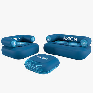 axion chillout inflatable furniture 3D model
