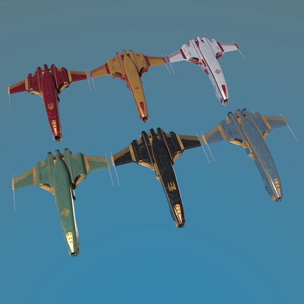 3D spaceship dagger type 1
