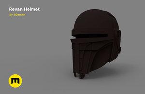 3D darth revan helmet printed model