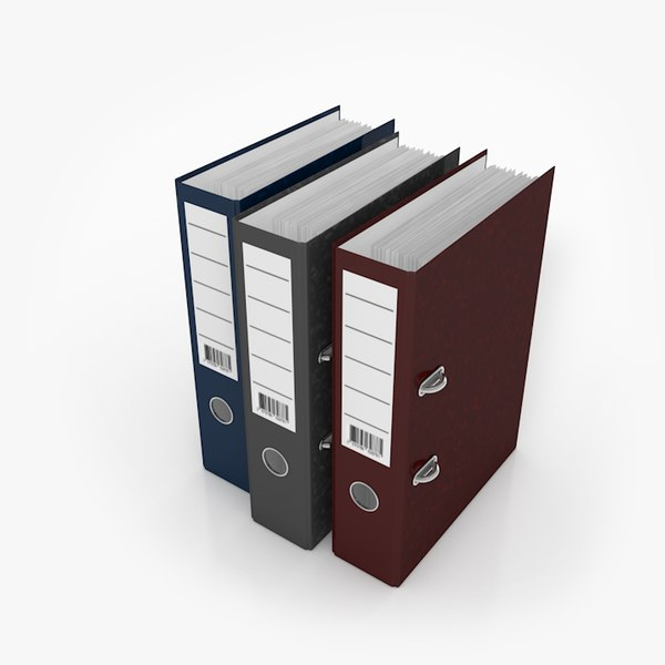 document folder file 3D