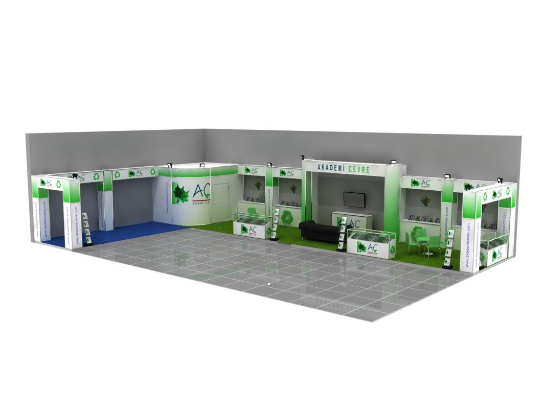 modular stand expo 3D model