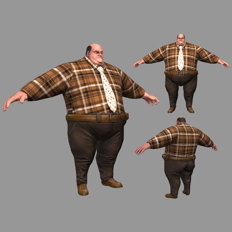 3D fat man model