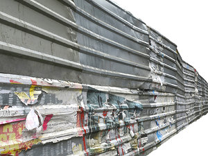 metal construction barrier 3D