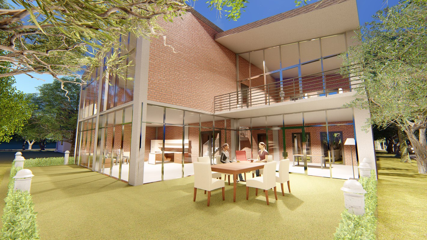 3D designed architecture model