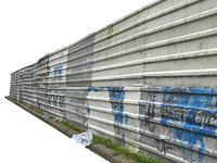 3D model metal construction barrier