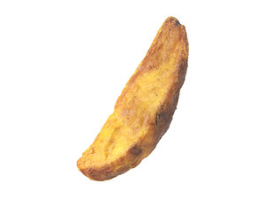 photorealistic scanned potato wedge model