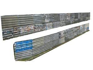 metal construction barrier pack 2 3D