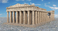 historic parthenon temple building 3D model