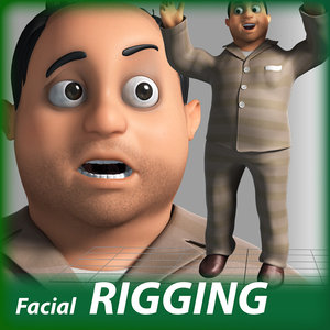 cartoon man rigged character 3D model