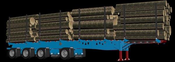 3D model quad trailer