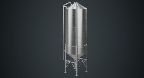 3D silo 2b model