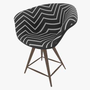 3D modern dining chair